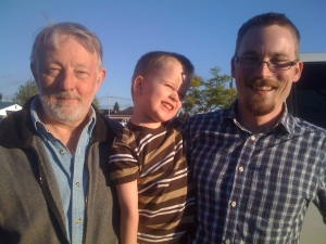 Matthew's Uncle Bruce with his nephew and great-nephew