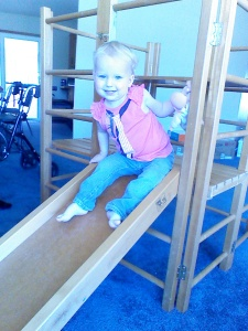 This wooden climbing toy from my childhood is now on its second generation!