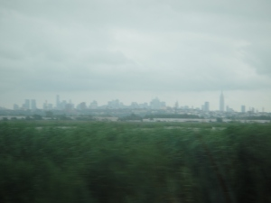 Drive by shooting...of the NYC skyline