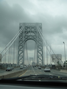 The George Washington Bridge was gorgeous!  Welcome to Manhattan!