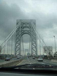 The George Washington Bridge was gorgeous!  Welcome to Manhattan!