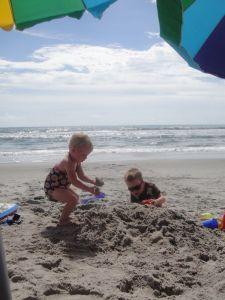 Satellite Beach - sandy kids