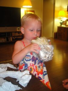 Amelia tackles Chipotle