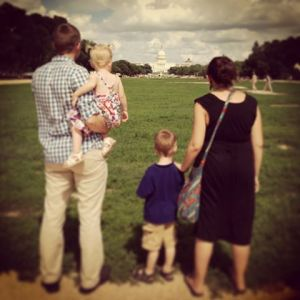 Family picture, away from the sun...(photo by Jennifer)
