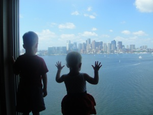 Staring at Boston's harbor...