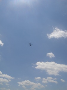This helicopter and his buddies were our constant companions throughout the day