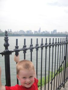 Levi overlooking the reservoir at Central Park