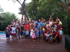 This was the amazing turn out at our Dallas get together with adopting families to share about our mission in the DRC.  So fun!  And about five minutes later, it was pouring down rain.