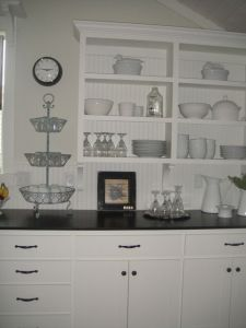 The kitchen was amazingly well stocked by beautiful pieces