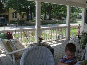 The gorgeous porch