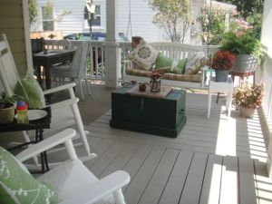 Huge porch and perfect weather to be outside