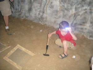 Levi in a mine in Colorado