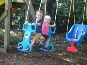 Levi & Amelia rocking the two-person swing in Nashville