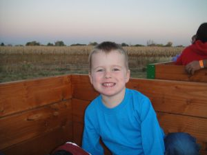 Levi ready for the Grain Train