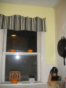 Just a few minutes ago we added the valance.  I made these for our house in Alaska.