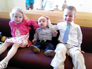 In the pew early while Daddy got ready with the men's chorus