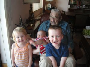 Papaji and the great grandkids!