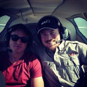 Brothers in a plane!