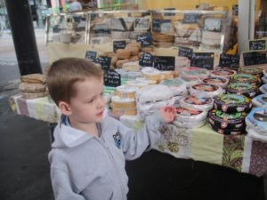 Each Saturday we head to a local market for fresh produce, some meats and most of our cheese…Levi loves cheese of all kinds…even more than I do!  France has over 400 officially recognized types of cheeses.