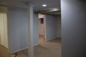 Basement living space, after