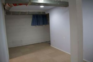 More basement living space, after