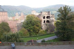 The Heidelberg castle is literally falling apart