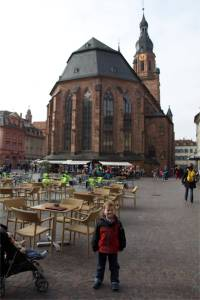 The church in downtown Heidelberg