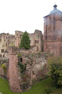 The crumbling Heidelberg castle