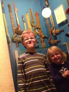 These are knives from Yemen, where Levi and Amelia's grandparents lived for a year…so, they have some to inherit.