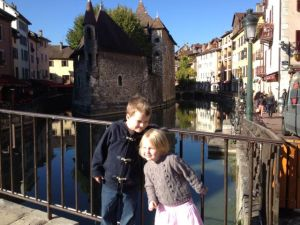 The canals in Annecy