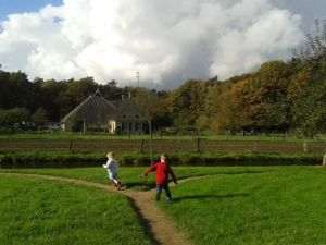 Running through the farmland at the open air museum in Arnhem