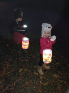 There was a city-wide Christmas festival and they gave out lanterns.  Real fire.  Real paper.  Real children.  It was awesome.