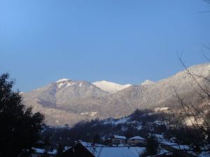 Our view, after the snow stopped and the sun came out...trés magnifique!