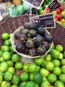 These were our absolute favorite fruit in Congo, so it was fun to see them in the store in Normandy.  But, not for that price...we'll wait until they are in season in December...