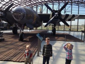 At a museum in Normandy, a B-26 Marauder, one of the only one of these planes left.
