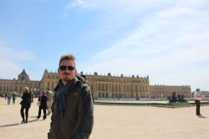 Matthew at Versailles, lookin' good.