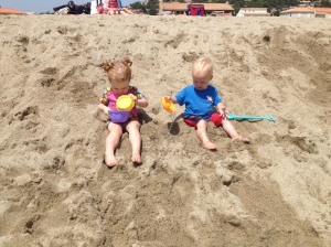Sydney and Axel at the beach.