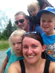 Family Swiss Alps Selfie!